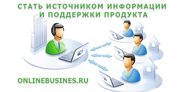 Стать источником информации и поддержки продукта